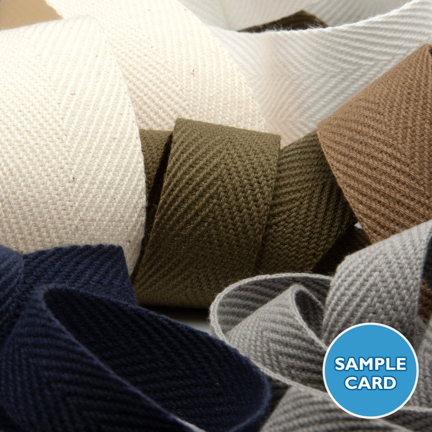 FUJIYAMA RIBBON Sample Card Thick Cotton Herringbone Ribbon (FY-270)