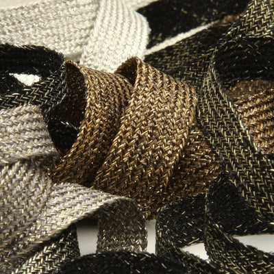 FUJIYAMA RIBBON [Wholesale] Antique Metallic Trimming Braid approx.14mm 30 Meters Roll White / Silver