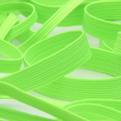FUJIYAMA RIBBON [Wholesale] Elastic Cord approx.8mm 30 Meters Roll Fluorescence Green