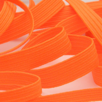 FUJIYAMA RIBBON [Wholesale] Elastic Cord approx.8mm 30 Meters Roll Fluorescence Orange