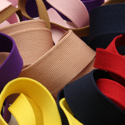 FUJIYAMA RIBBON [Wholesale] Polyester Thin Knit Tape 12mm 30 Meters Roll