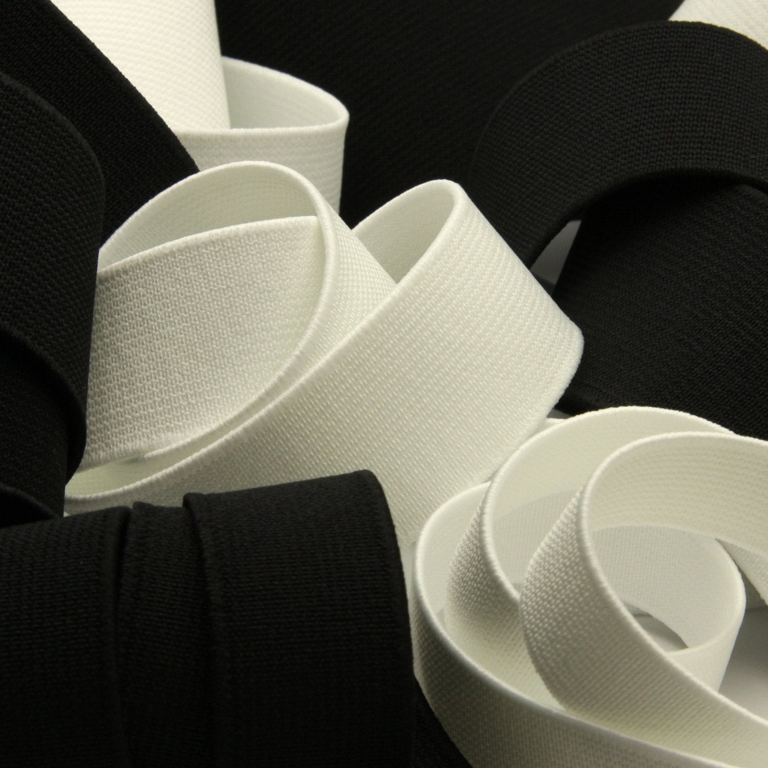 FUJIYAMA RIBBON [Wholesale] Soft Type Inside Belt 25mm 30 Meters Roll Off White