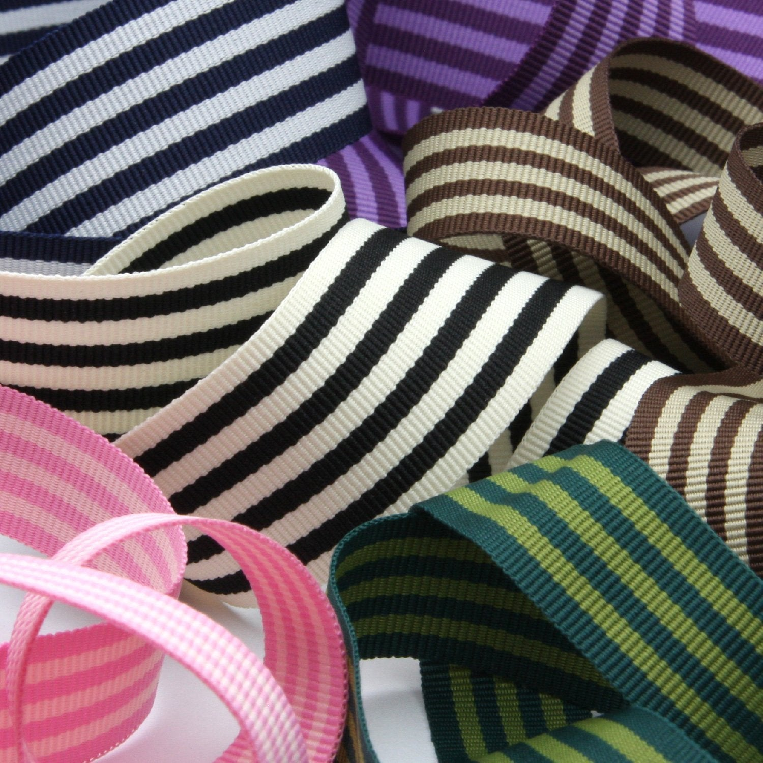 FUJIYAMA RIBBON [Wholesale] Stripe Grosgrain Ribbon approx.15mm 30 Meters Roll