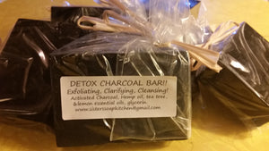 Charcoal Cleansing Bar Set of 3 - Sisters Soap Kitchen