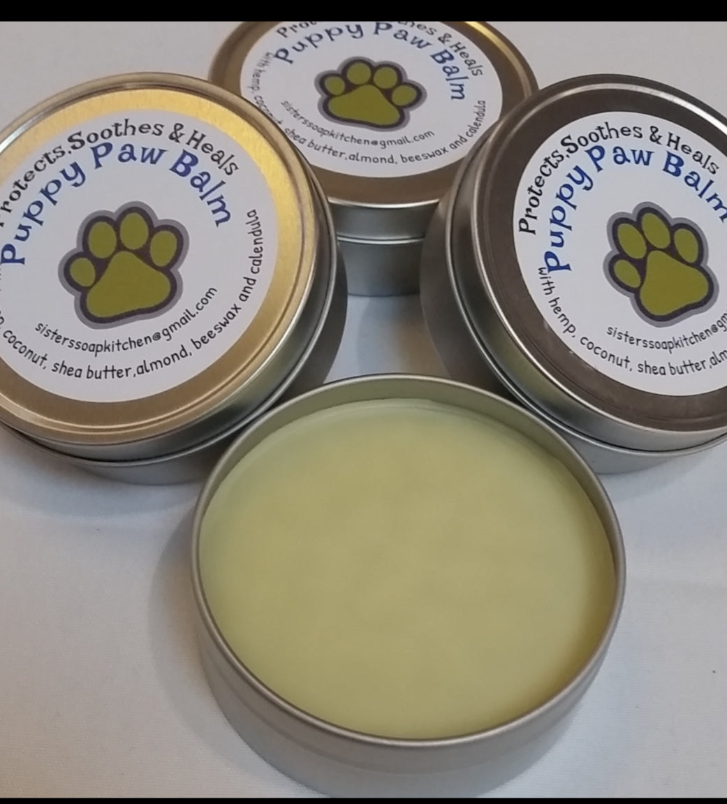 Puppy Paw Balm, 2 (4oz) tins for $15.00 - Sisters Soap Kitchen