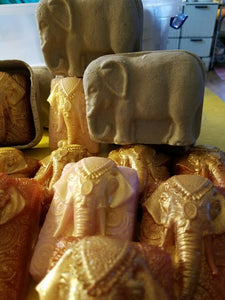 Handmade elephant soap in a decorative elephant box! - Sisters Soap Kitchen