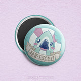 Shark Puns 1 \\ 3in Buttons & Magnets