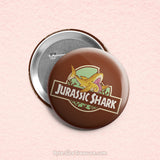 Jurassic Shark 1 \\ 3in Buttons & Magnets