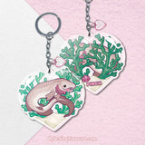 Frilled Shark \\ Vinyl Sticker, Acrylic Keychain