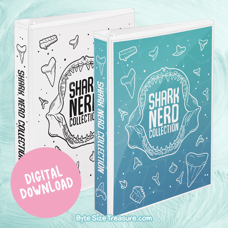 Shark Nerd Collection Mini Binder Cover Printable