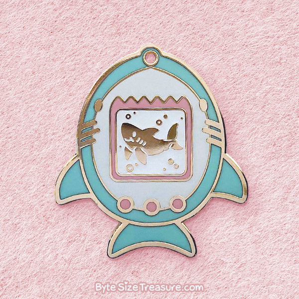 Sharkagotchi Enamel Pin