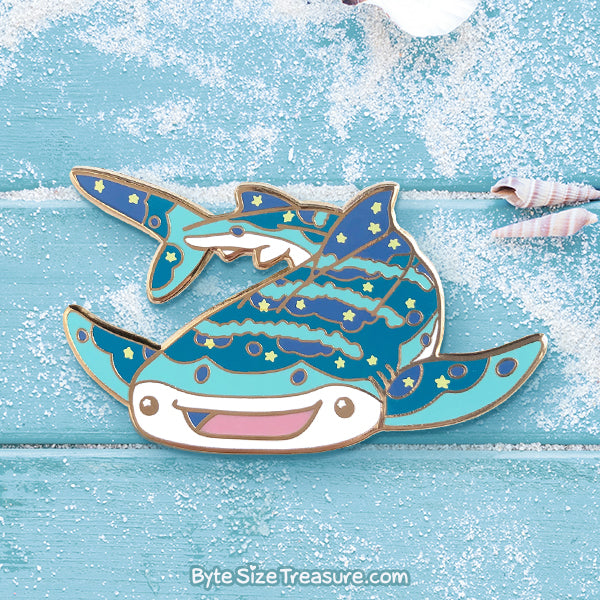 Nom the Whale Shark Enamel Pin