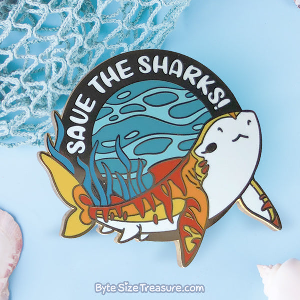Save the Tiger Sharks! Enamel Pin