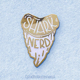 White Shark Nerd Tooth Enamel Pin