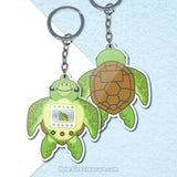 Sea Turtle Aquagotchi \\ Acrylic Keychain