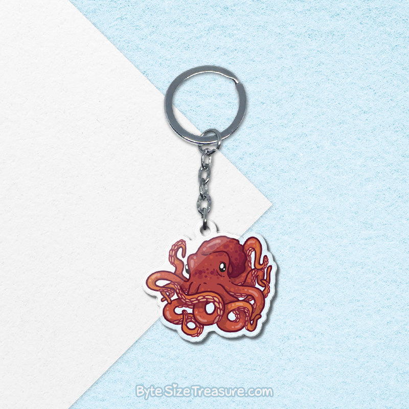 Giant Pacific Octopus \\ Acrylic Keychain