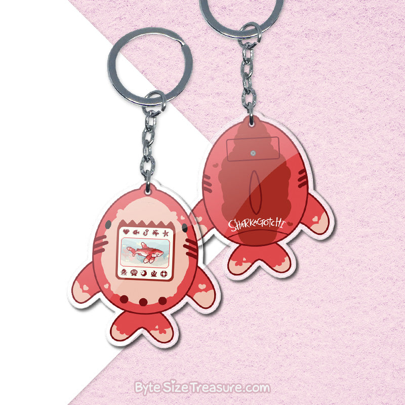 Sharkagotchis - Set 1 \\ Acrylic Keychains