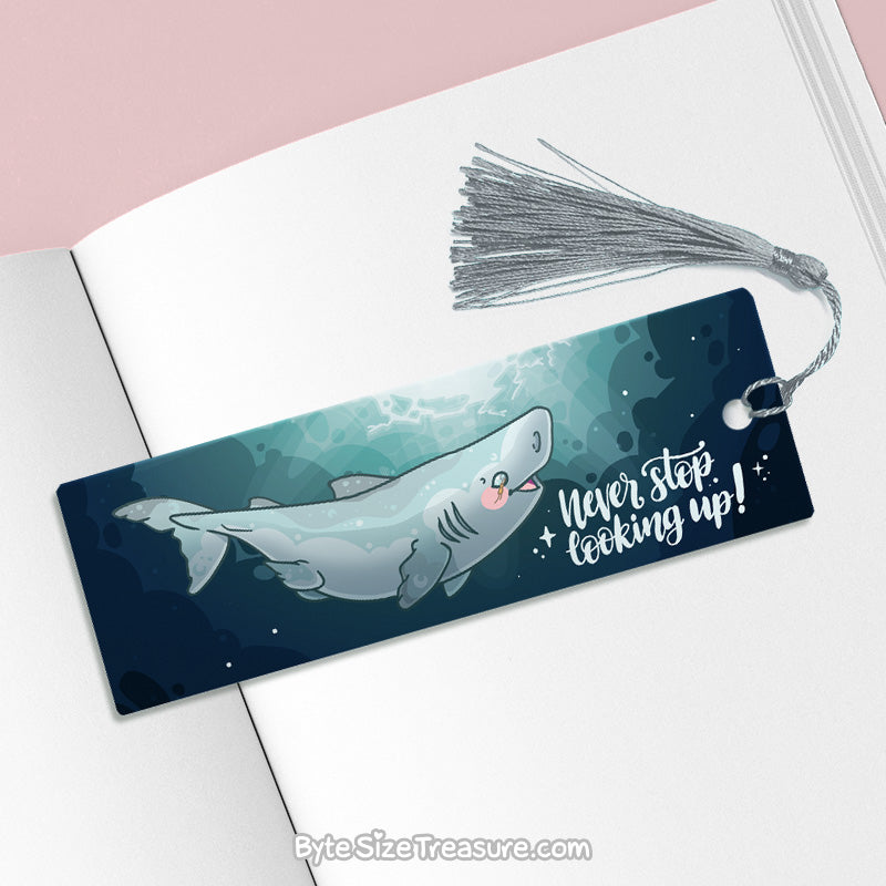 Never Stop Looking Up \\ Metal Bookmark