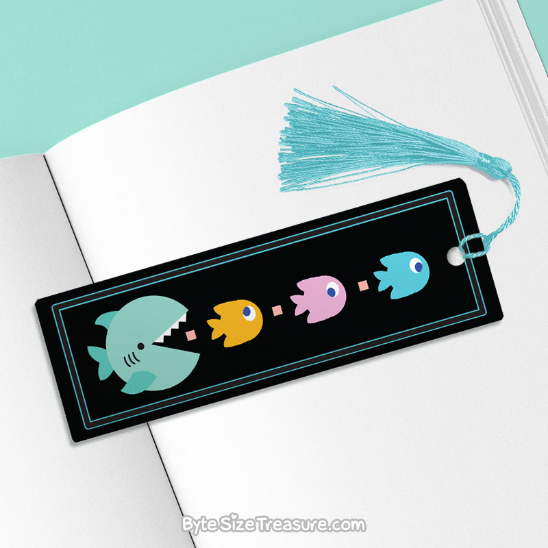 Pac-Shark \\ Metal Bookmark
