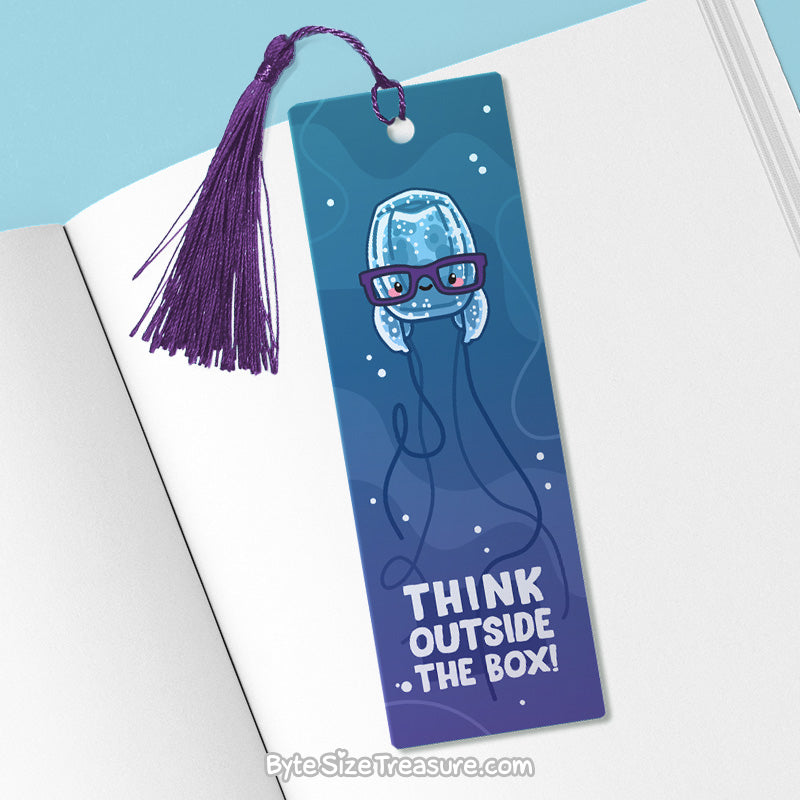 Think Outside the Box \\ Metal Bookmark