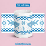 Shark Fish-mas Sweater (Blue) \\ Coffee Mug