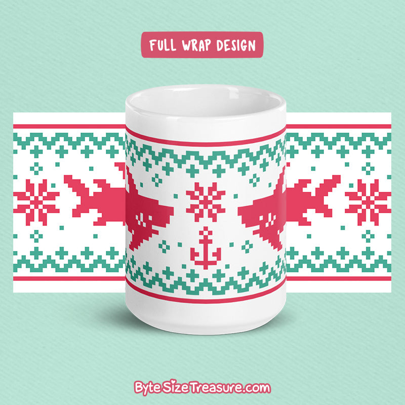 Shark Fish-mas Sweater \\ Coffee Mug