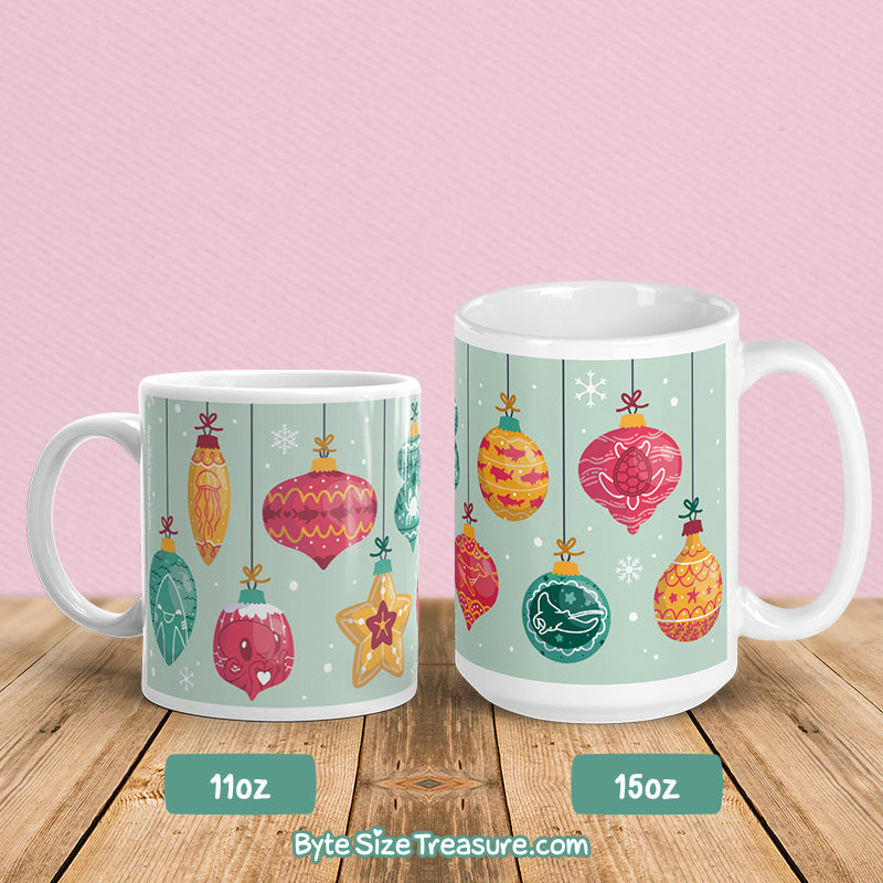 Marine Life Holiday Ornaments \\ Coffee Mug