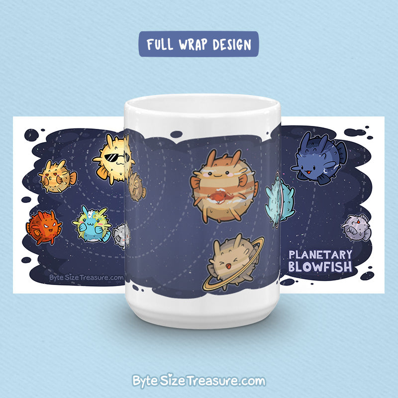 Planetary Blowfish \\ Coffee Mug