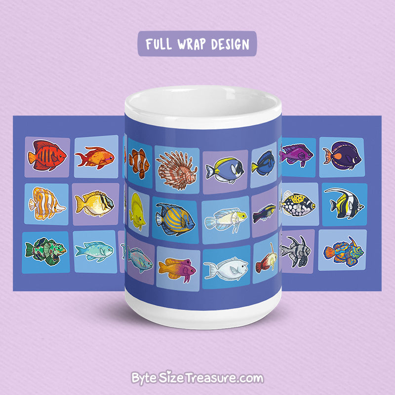 Saltwater Reef Fish \\ Coffee Mug