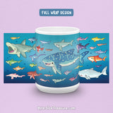 Shark Species Lineup \\ Coffee Mug