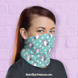Chubby Chompie Nibble \\ Face Shield, Neck Gaiter