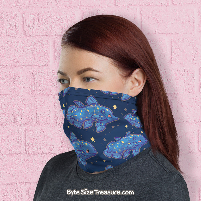 Coelacanth Pattern \\ Face Shield, Neck Gaiter
