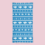 Blue Fish-mas Sweater \\ Face Shield, Neck Gaiter