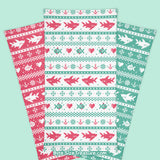 Red & Green Fish-mas Sweater \\ Face Shield, Neck Gaiter