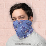Ocean Sunfish Pattern \\ Face Shield, Neck Gaiter