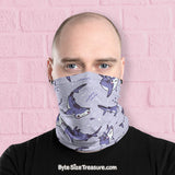 Hammerhead Shark Pattern \\ Face Shield, Neck Gaiter