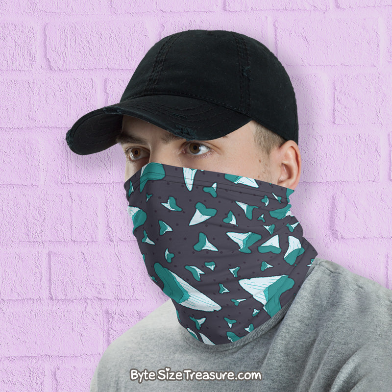 Shark Tooth Pattern \\ Face Shield, Neck Gaiter