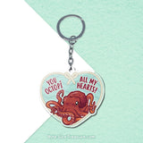You Octopi All My Hearts \\ Acrylic Keychain