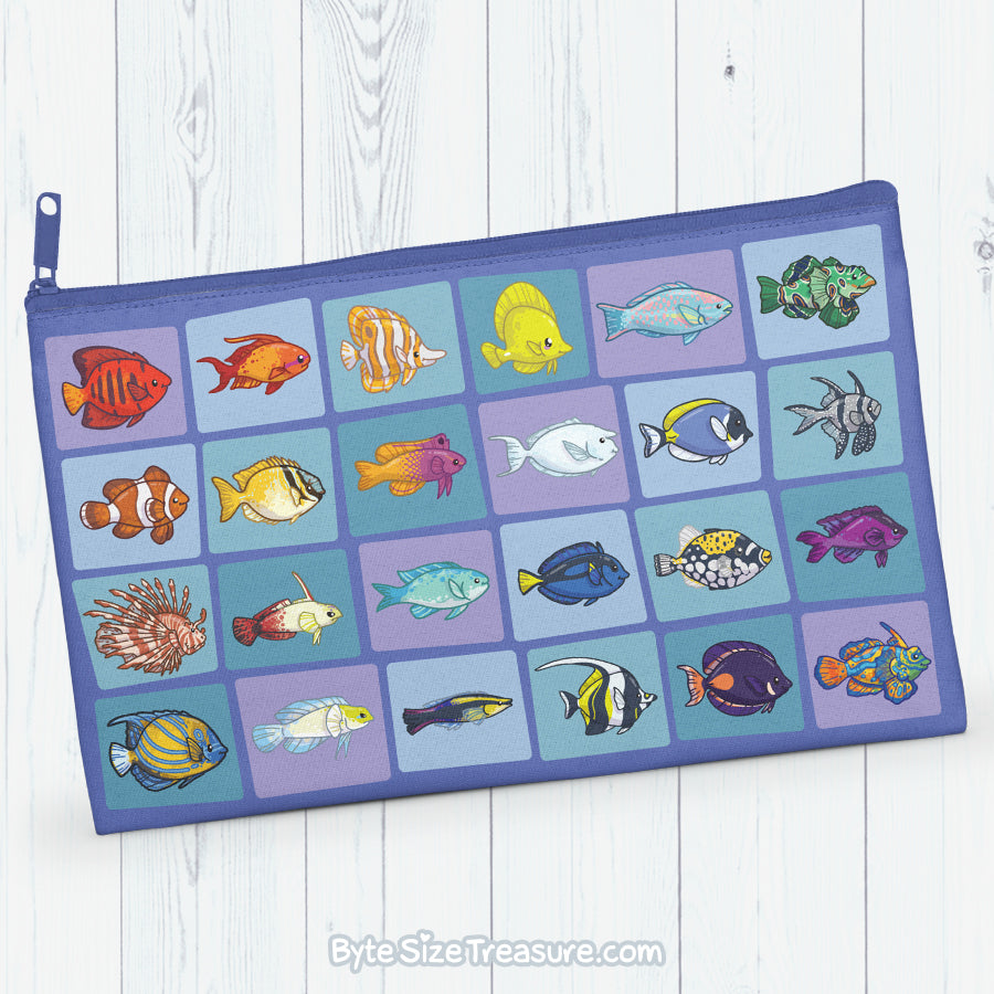 Reef Fish \\ Zipper Pouch