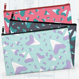 Shark Teeth \\ Zipper Pouch