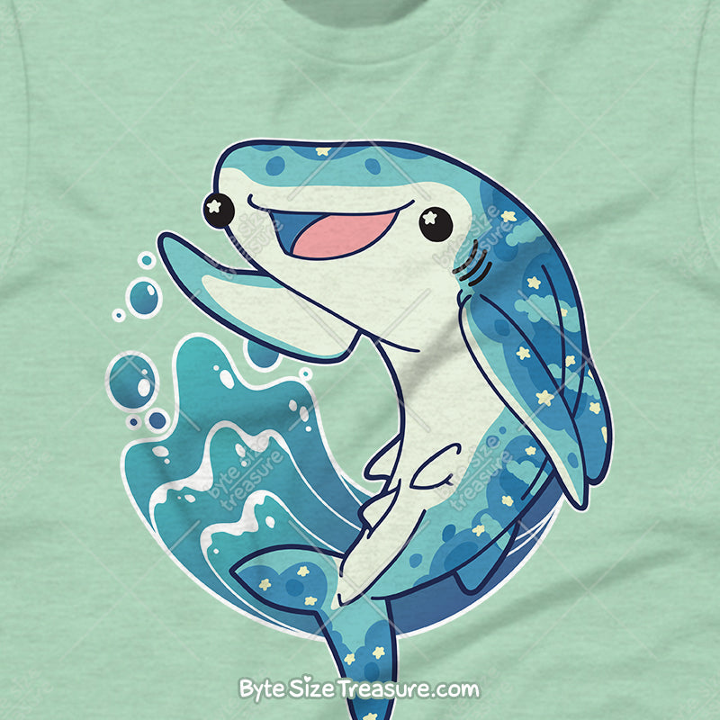 Cute Happy Whale Shark \\ Short-Sleeve Unisex T-Shirt