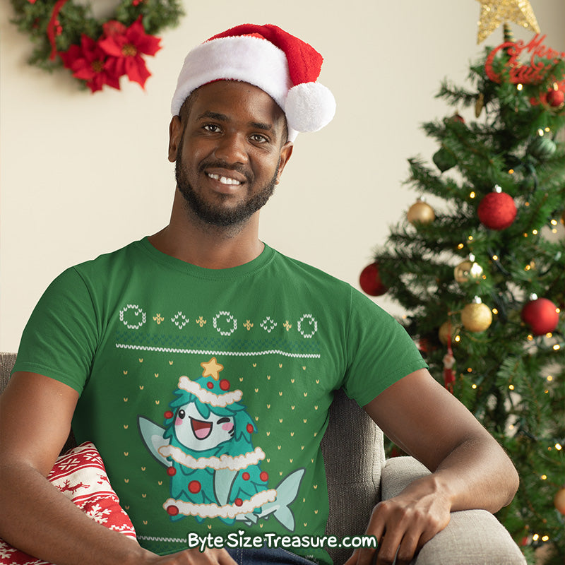 Shark Holiday Tree \\ Short-Sleeve Adult Unisex T-Shirt