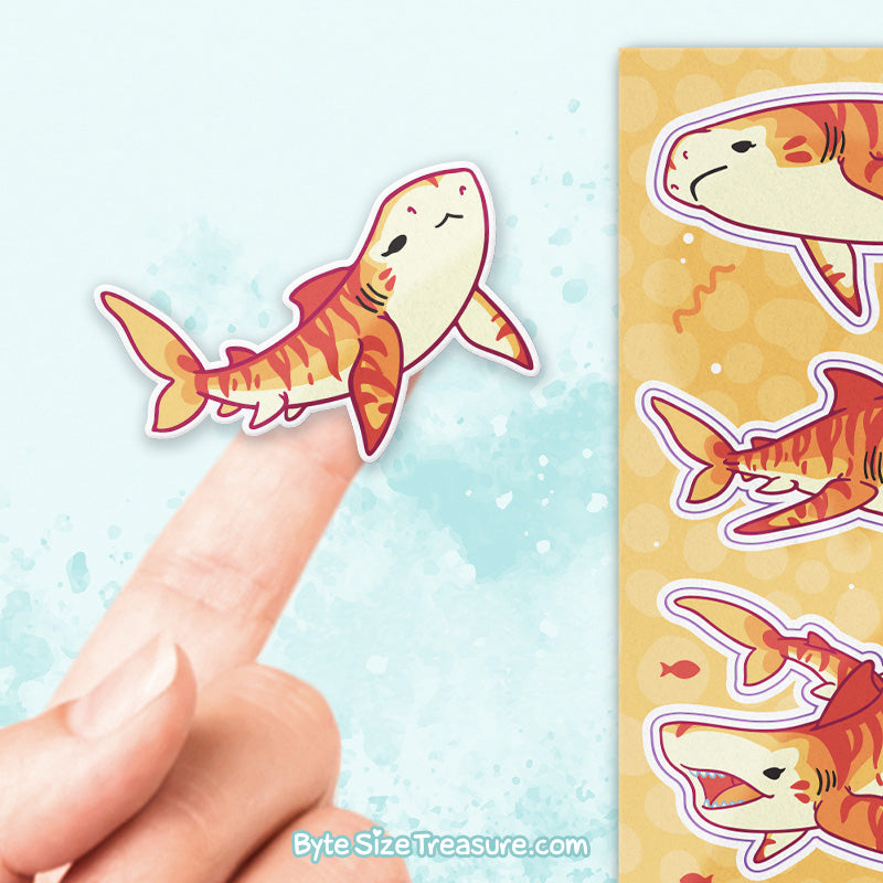 Tiger Shark \\ Sticker Sheet