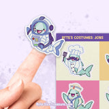 Byte's Costumes: Jobs \\ Sticker Sheet