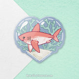 Salmon Shark \\ Vinyl Sticker, Acrylic Keychain