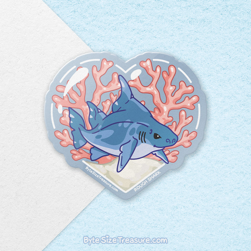 Rough Shark \\ Vinyl Sticker, Acrylic Keychain