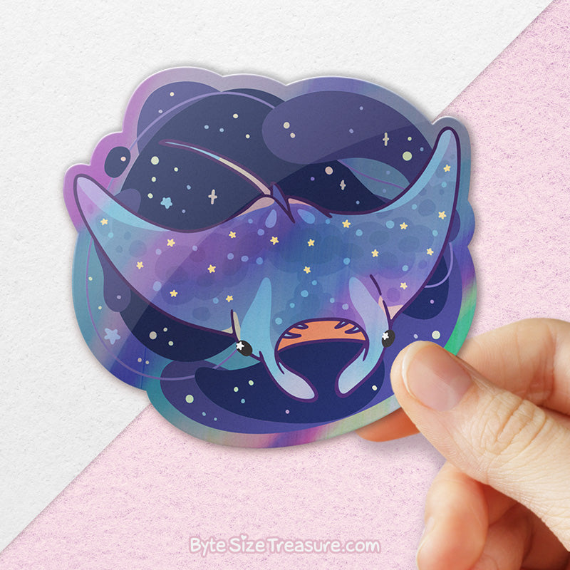 Manta Ray of Sunshine \\ Holographic Sticker