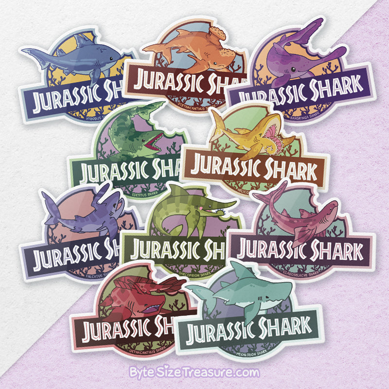 Jurassic Shark \\ Vinyl Sticker