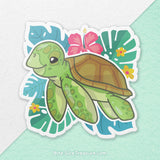Green Sea Turtle \\ Vinyl Sticker