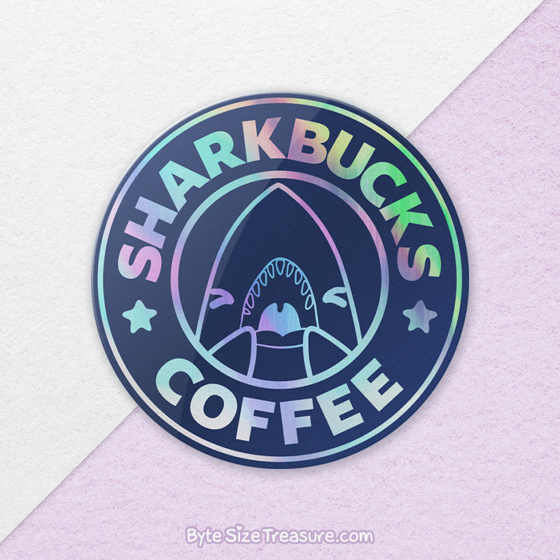 Sharkbucks \\ Holographic Sticker